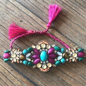 Bazaar Statement Tassel Bracelet